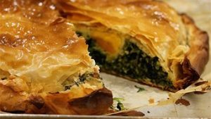 Easter ricotta, spinach, egg and dill pie recipe